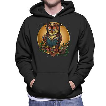 Wise boka Owl mäns Hooded Sweatshirt