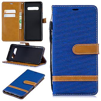 Samsung Galaxy S10 plus cell phone case protective bag case cover pouch wallet card holder Blue