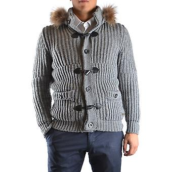 Daniele Alessandrini Ezbc107094 Men's Grey Wool Sweater