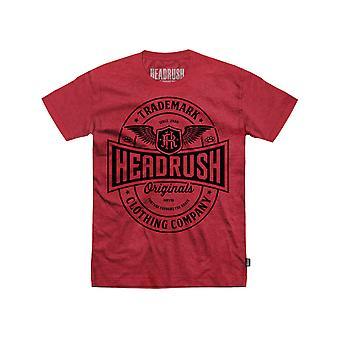 Headrush Mens HR Trademark Label T-Shirt - Red - street mma training