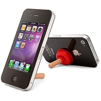 iPlunge - sewer cleaners like iPhone stand (Red)