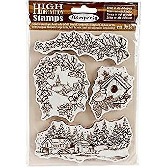 Stamperia Natural Rubber Stamp Christmas