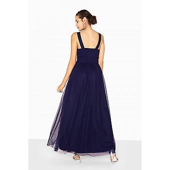 Little Mistress Womens/Ladies Katie Jewel Waist Maxi Prom Dress