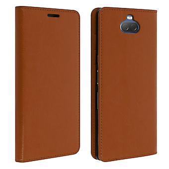 Business leather book case, stand case for Sony Xperia 10 - Camel
