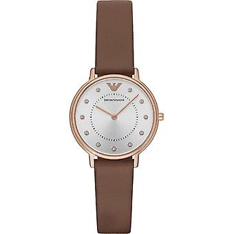Emporio Armani Ar8040 Brown Box Set Leather Ladies Watch