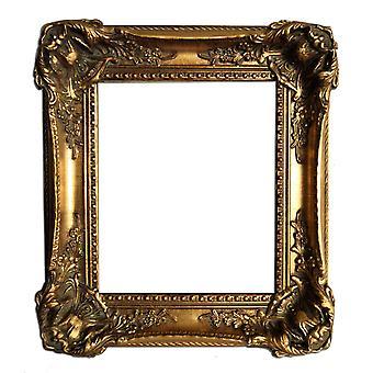 18x23 cm or 7x9 inch, gold Frame