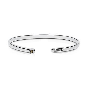 Lehigh University kvarts sten manschetten armband i Sterling Silver design av BIXLER