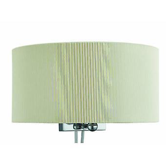 2 ljus inomhus vägg ljus krom, glas diffusor och grädde skugga