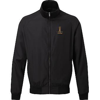 11th Hussars Veteran - Licensed British Army Embroidered Harrington Jacket