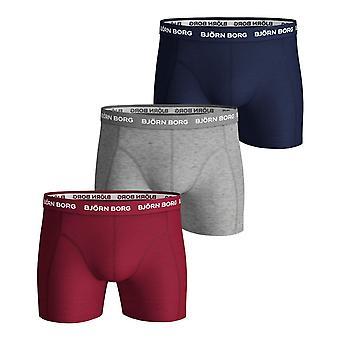 Bjorn Borg Men's Boxer Shorts 3 Pack ~ Sammy Seasonal Solid