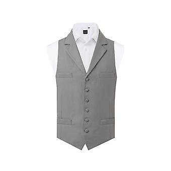 Dobell Mens Dove Grey Morning Suit Waistcoat Regular Fit Single Breasted Notch Lapel