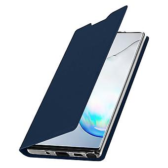 Slim flip wallet case, Business series for Samsung Galaxy Note 10 – Dark blue