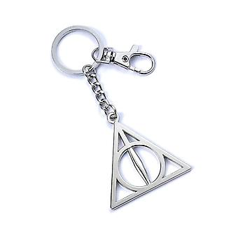 Harry Potter Keyring Deathly Hallows emblem new Official silver plated keychain