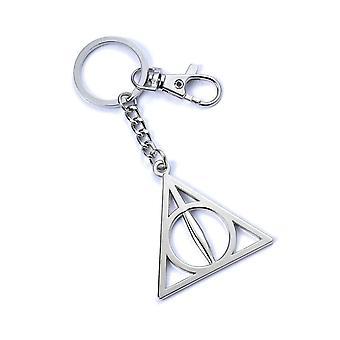 Harry Potter Anahtarlık Ölüm Yadigarları amblemi yeni Resmi gümüş kaplama anahtarlık