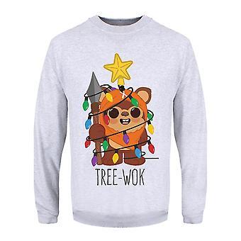 Grindstore Mens Tree-Wok Christmas jumpperi