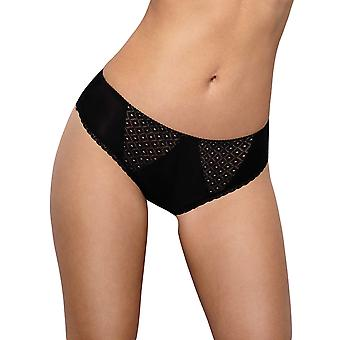 Vena VF-320 Women's Beige and Black Spotted Lace Brief