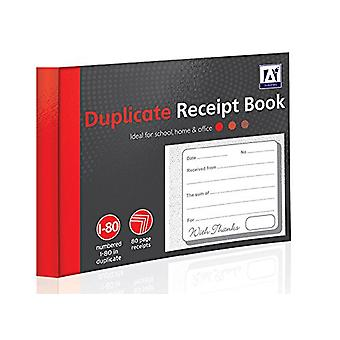 80 Page Duplicate Receipt Book Numbered Pages 2 Sheets Carbon Paper