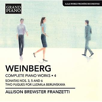 Mieczyslaw Weinberg - Weinberg: Complete Piano Works, Vol. 4 [CD] USA import