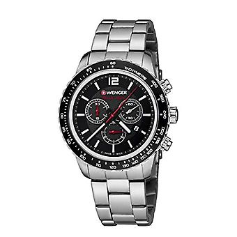 Wenger Unisex Quartz Chronograph Watch with stainless steel band 01.0853.107