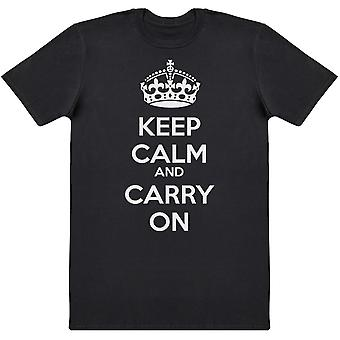 Keep Calm And Carry On - Mens T-Shirt