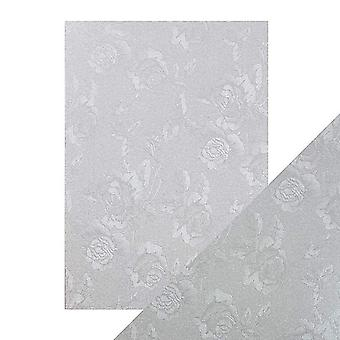 Tonic Studios Craft Perfect A4 Luxury Embossed Card, Steel Toile, 30 x 21.5 x 0.5 cm