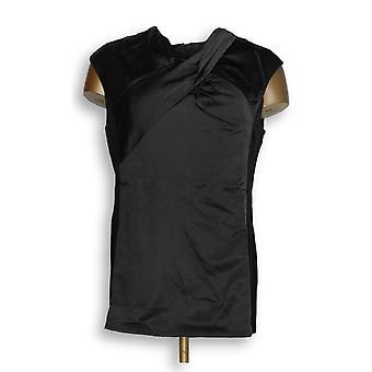 G.I.L.I. lo tiene me encanta Mujeres's Top Tejido Twist Cuello Frontal Negro A277129
