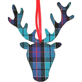 Stag Head Hanging Decoration in Highland Check par Art Cuts