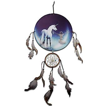 Unicorn og Native Girl Dreamcatcher