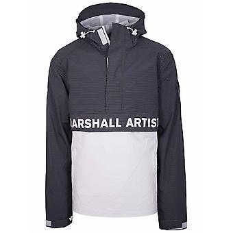 Marshall Artist Navy & White Rip Stop Half Zip Jacket