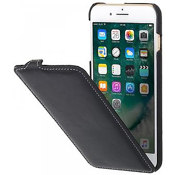Case For iPhone 8 Plus/7 Plus Ultraslim Black Nappa In True Leather