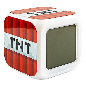 Minecraft Digital Alarm Clock - TNT