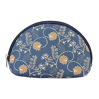 Jane austen blue cosmetic bag by signare tapestry / cosm-aust