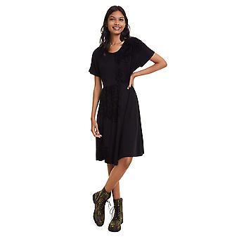 Desigual Frauen's Klency Hourglass Form Jersey Kleid