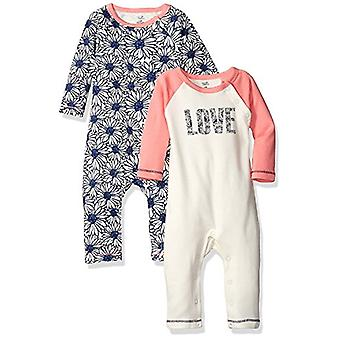 Touched by Nature Unisex Baby Organic Cotton Coveralls and Union Suits, Daisy...