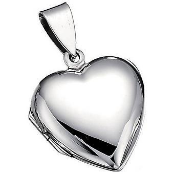 Beginnings Plain Heart Locket Pendant - Silver