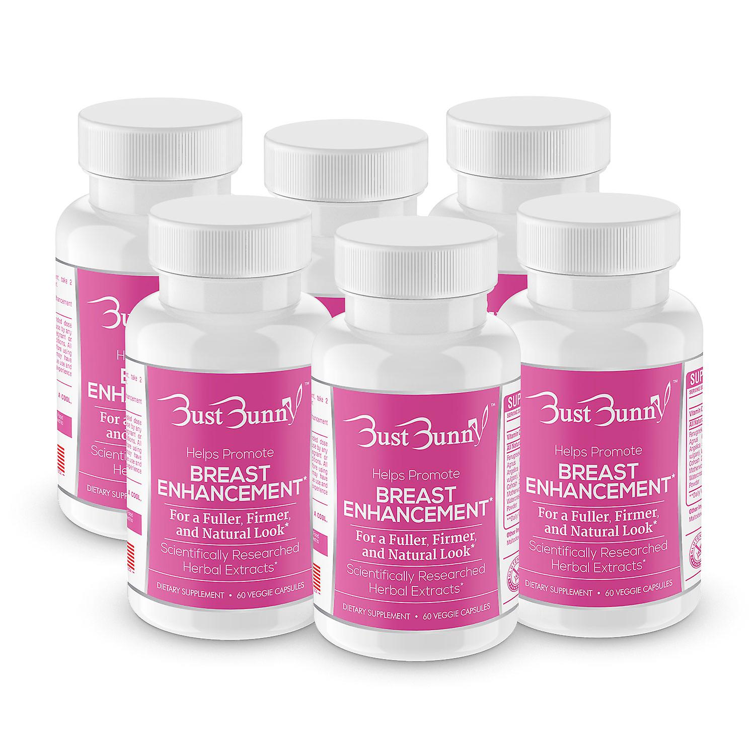 Bust Bunny Breast Enhancement supplement 6 Month Supply
