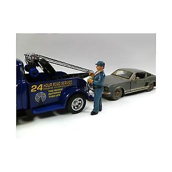 Tow Truck Fahrer/Betreiber Bill Figur für 1:24 Maßstab Diecast Automodelle von American Diorama