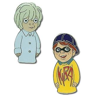 Pin Set - Death Note - New Kira & Near Puppet (Set Of 2 )Anime Licensed ge7470