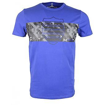 883 Police Marina Slim Fit Round Neck Blue T-shirt