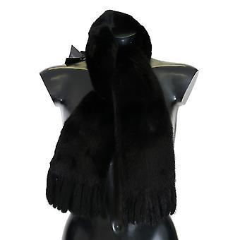 Dolce & Gabbana Black Mink Fur Scarf