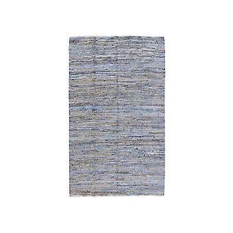 Denim Zigzag Recycled Denim Floor Rug