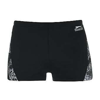Slazenger Mens Curve Panel Boxers Swimming Trunks Bottoms Shorts