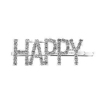 Hairpin with text - Happy