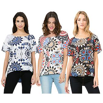 Desigual Women's Carla Abstract Floral Print Top Blouse