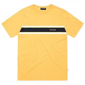 NICCE Nicce Varsity Logo Apricot Yellow T-Shirt