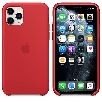 Original Packaging MWYH2ZM/A Apple Silicone Microfiber Cover Case for iPhone 11 Pro Max - Red