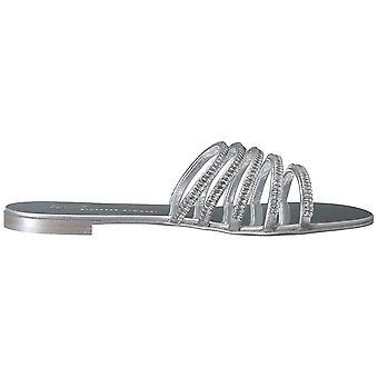 Giuseppe Zanotti Women's E900013 Flat Sandal, Silver, 12 Medium US