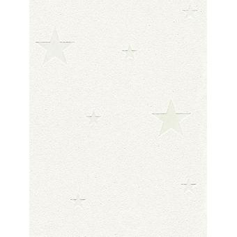 Glow in the Dark Stars Wallpaper White AS Creation 32440-1