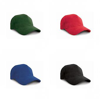 Result Pro Style Heavy Brushed Cotton Baseball Cap (Pack of 2)