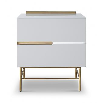 Gillmore Sleek - Contemporain Deux tiroirs poitrine étroite avec diverses options de couleur